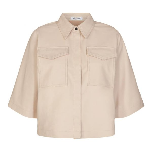 Phoebe Crop Shirt Marzipan