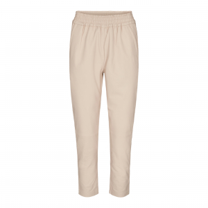 Shiloh Crop Leather Pant Marzipan