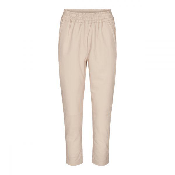 Shiloh Crop Leather Pant Marzipan