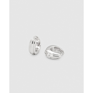 ICE HOOPS SMALL LINE SILVER