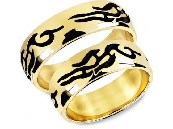 Snorre ring (gull) - Tribalmønster