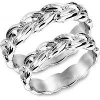 Snorre ring (hvitgull) - Flettemønster fra vikingtiden