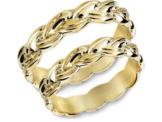 Snorre ring (gull) - Flettemønster fra vikingtiden