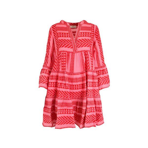 Devotion short dress -  pink/red