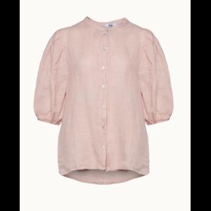 Clara button blouse linen