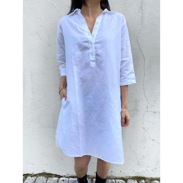 Aisha Dress Linen Coconut