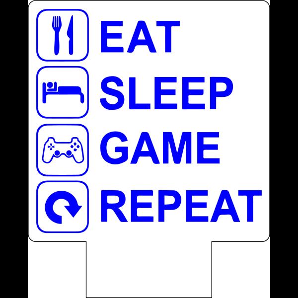 3D Lampe - Eat Sleep Game Repeat
