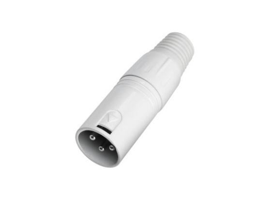 XLR 3-pin hvit male