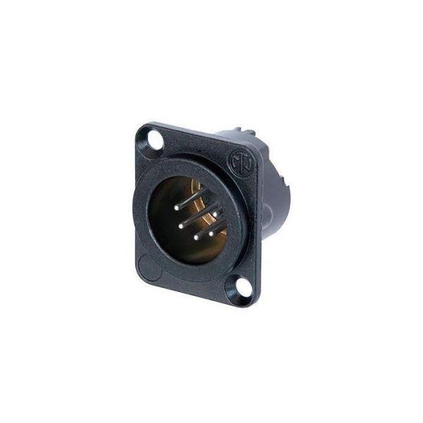 XLR 5-pin Neutrik male chassi