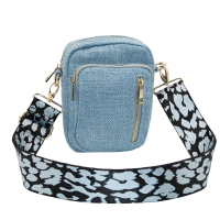 Hedvig blue voven crossbag 700203