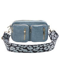 Hedvig blue voven crossbag 700303