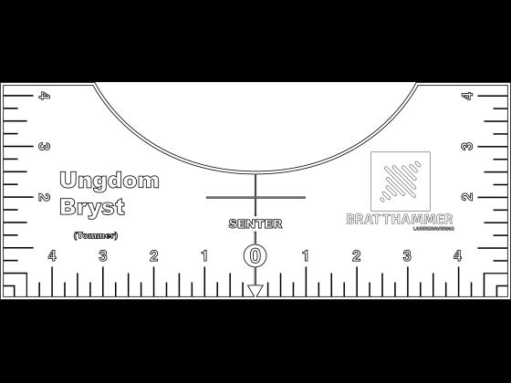Linjal for klestrykk bryst - Ungdom