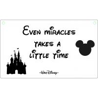 Even miracles takes a little time