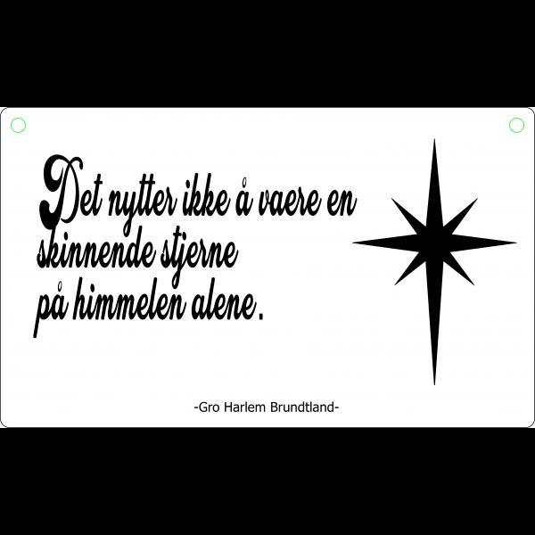 Det nytter ikke å være en skinnende stjerne på himmelen alene.