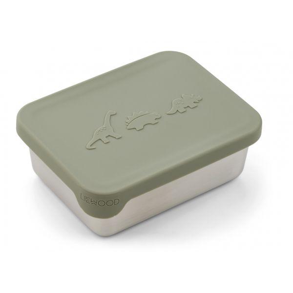 LIEWOOD - AKO SNACK BOX DINO FAUNE GREEN