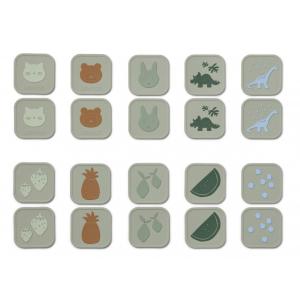 LIEWOOD - EASTON MEMORY GAME DOVE BLUE MULTI MIX