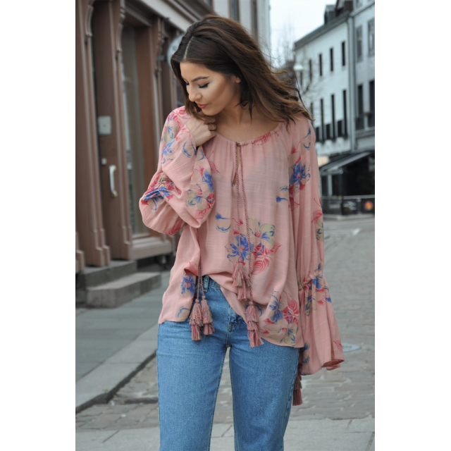 BT BLOUSE FADED FLOWERS