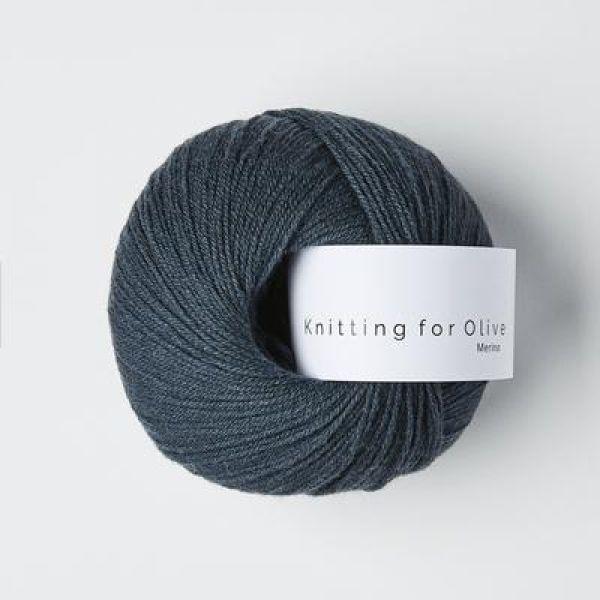 Dyb Petroleumsblå - Merino - Knitting for Olive