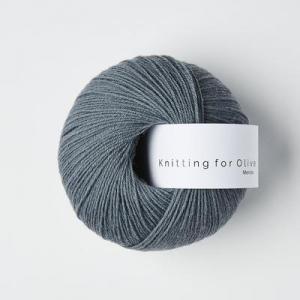 Støvet Petroleumsblå - Merino - Knitting for Olive
