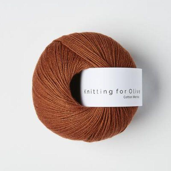 Rust - Cotton Merino - Knitting for Olive