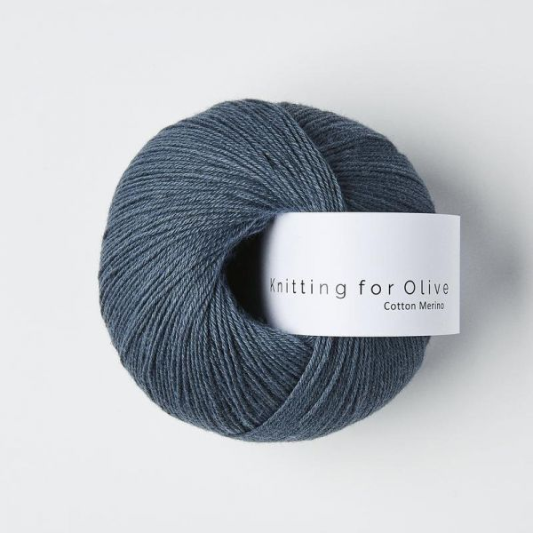 KFO  Cotton Merino - Støvet Blåhval / Dusty Blue Whale