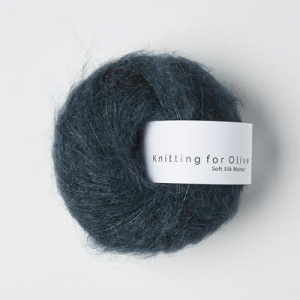 Dyb Petroleumsblå - Soft Silk Mohair - Knitting for Olive