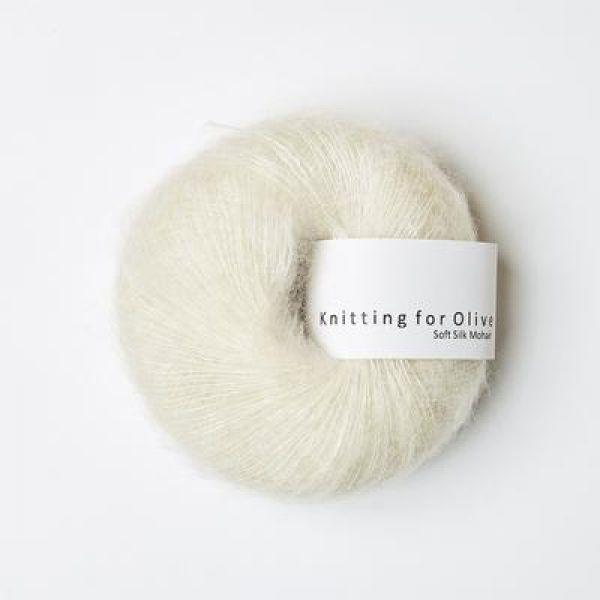 Råhvid - Soft Silk Mohair - Knitting for Olive