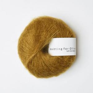 Mørk Sennep - Soft Silk Mohair - Knitting for Olive
