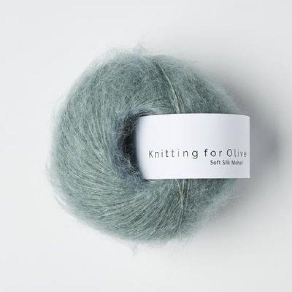 Støvet Aqua - Soft Silk Mohair - Knitting for Olive