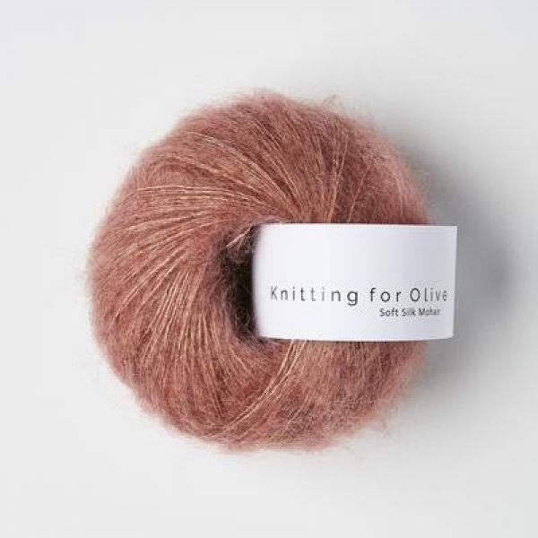 Blommerosa - Soft Silk Mohair - Knitting for Olive