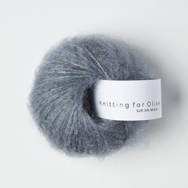 Støvet Petroleumsblå - Soft Silk Mohair - Knitting for Olive