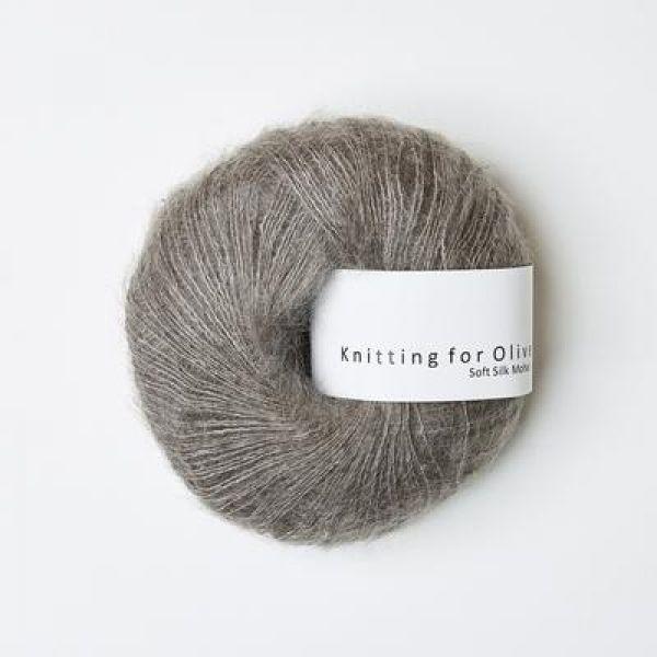 Støvet Elg - Soft Silk Mohair - Knitting for Olive