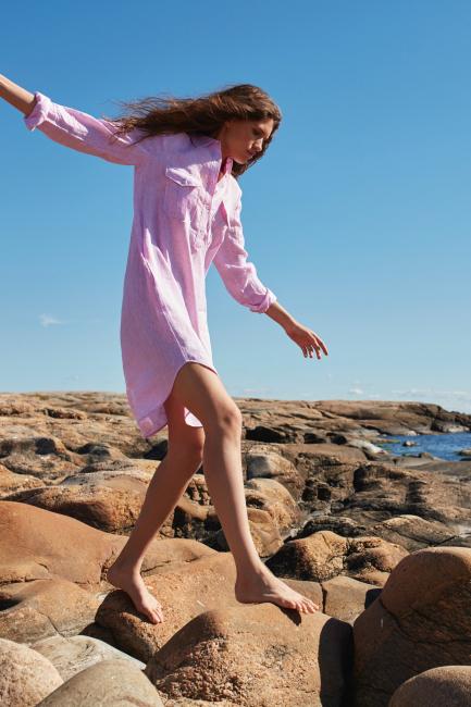 Carmel Nadia Dress Pale Pink