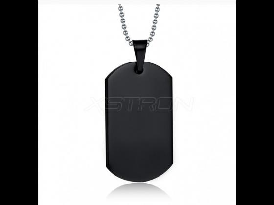 Nøkkelring sort med halsskjede