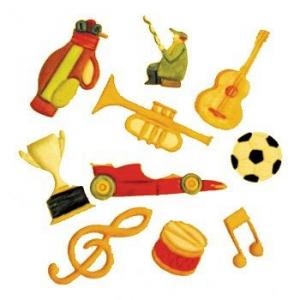 Utstikkerlinjaler Musikk og Sport, noter, 2 deler