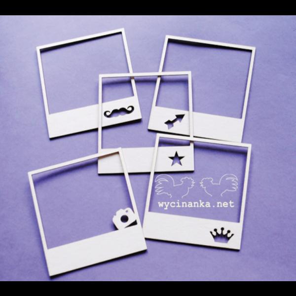 Chipboards – Polaroidramme mix 2 – 6stk