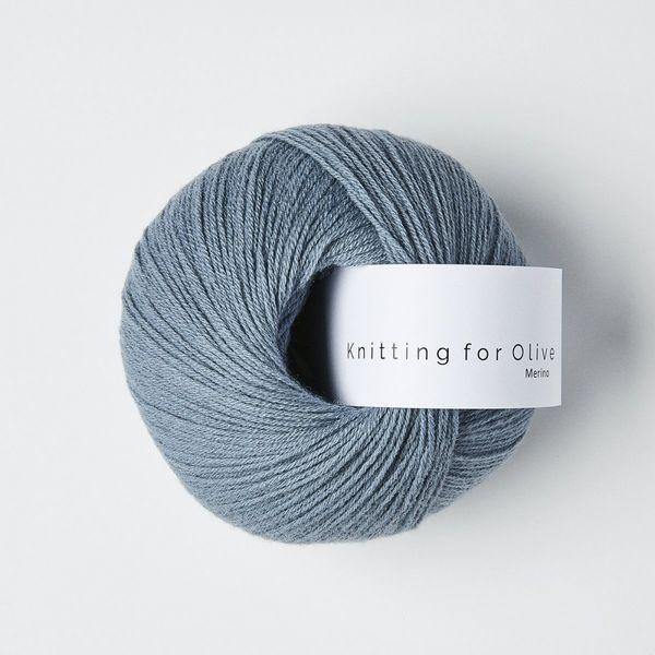 Støvet Dueblå - Merino - Knitting for Olive