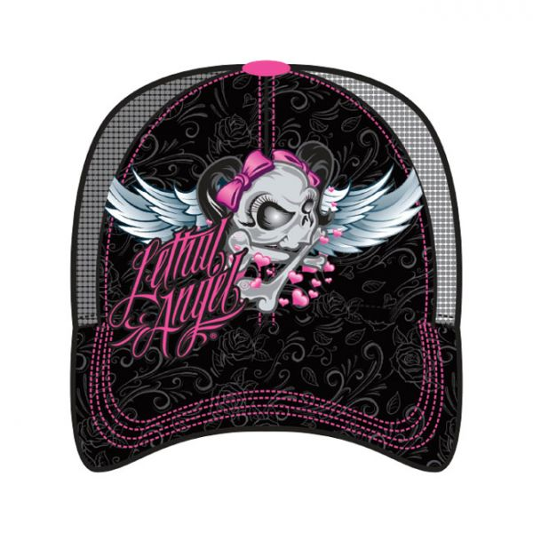 LT, GIRL SKULL TRUCKER CAP