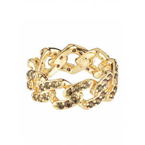 MEXICAN CHAIN RING OLIVE