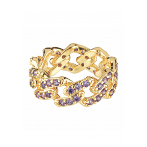 MEXICAN CHAIN RING LAVENDEL