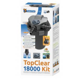 Topclear 18000 trykkfiltersett med pumpe og UV-C