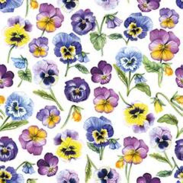 Serviett Pansy all over Purple
