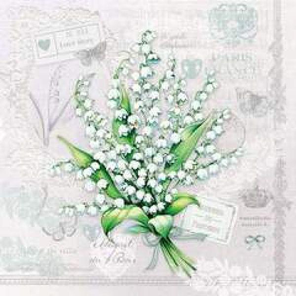 Serviett Lily of the valley lunsj