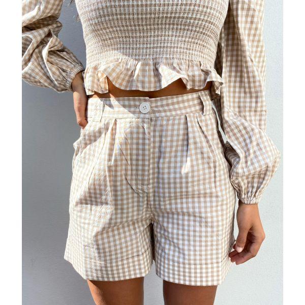 Checks Shorts - Beige Checks