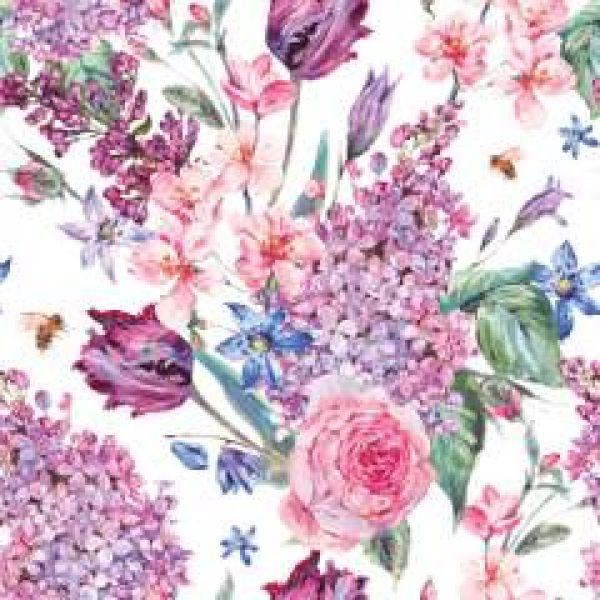 Serviett Flower composition lunsj