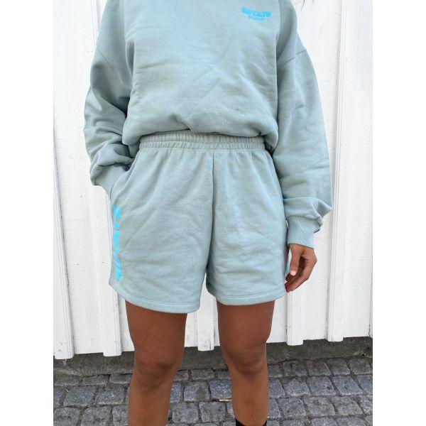 Roda Shorts Large Print - Blue Surf