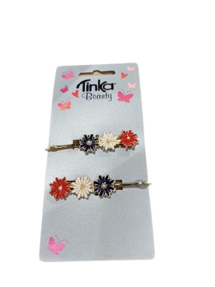 Tinka Hårspenne med blomst 17.mai