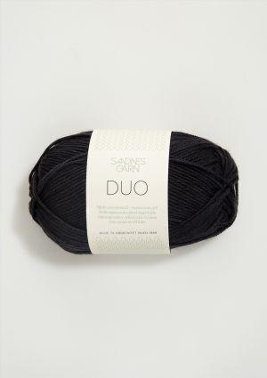 Duo 1099 Svart  - Sandnes Garn