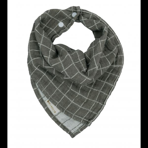 Fold over Bib - Grid - Olive