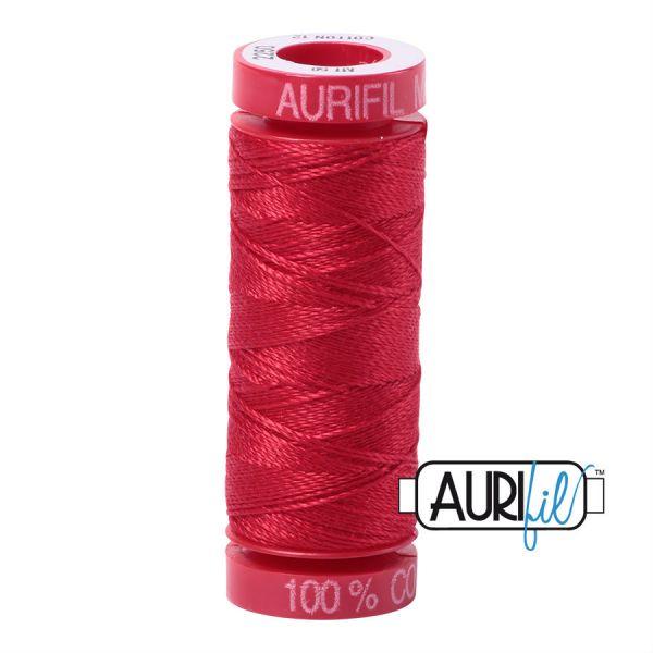Aurifil 12 WT rød